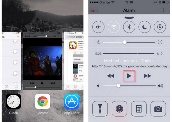 Press play Chrome YouTube iOS