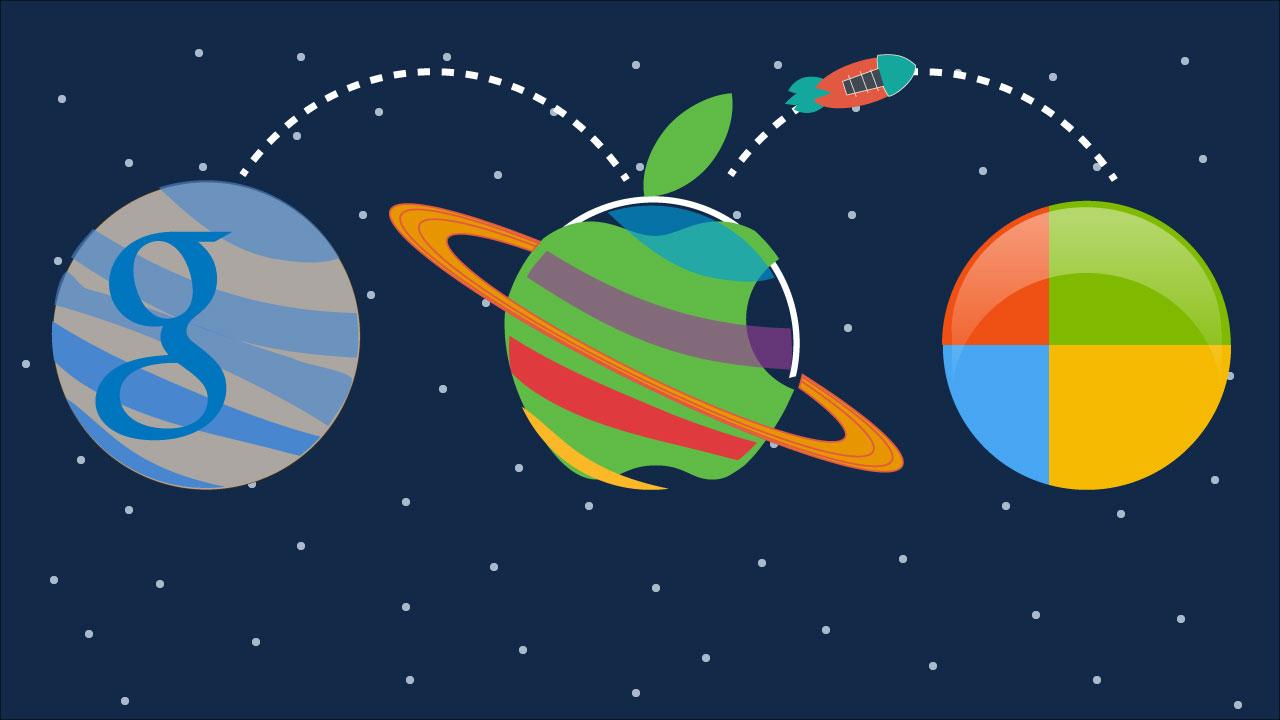 Fans de Google, Apple ou Microsoft: faut-il tout confier à un seul écosystème?