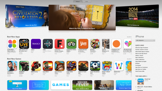 Você só adquire a licença do aplicativo no iTunes App Store