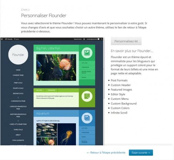 Wordpress personnaliser le thème