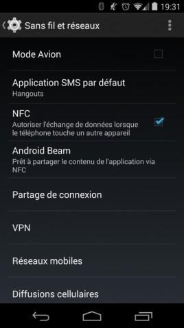 Activer NFC