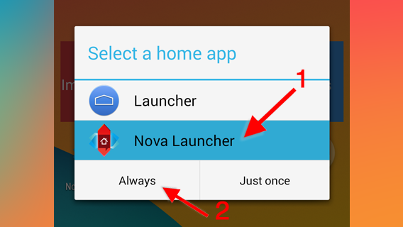 Changer icones Android Nova Launcher