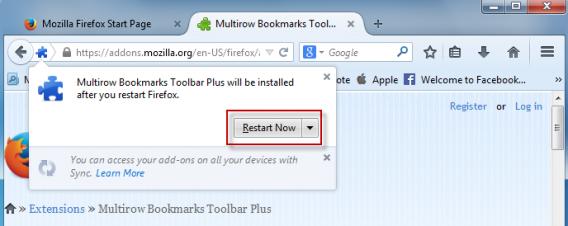 Firefox reboot PC