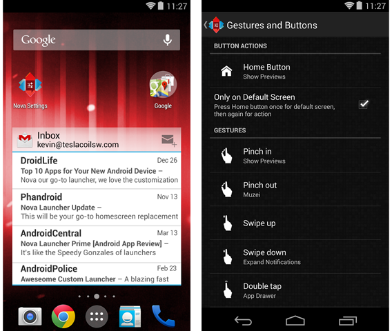 Nova Launcher organiza aplicativos instalados no Android