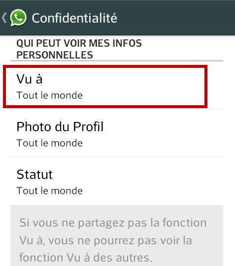 WhatsApp - vu à