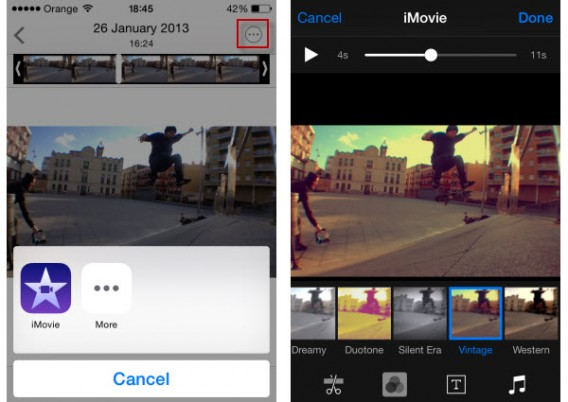 iOS 8 Photo Extensions with movies