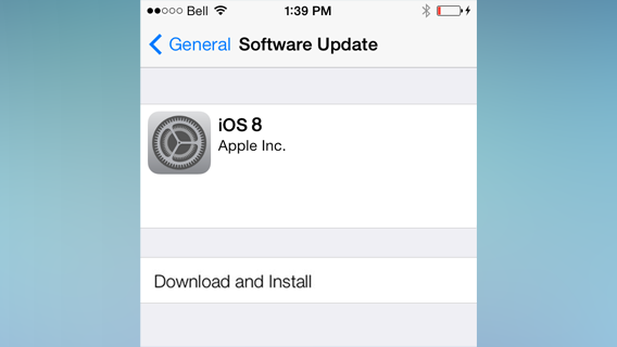 iOS 8 instalacja