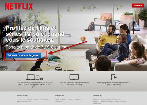 page accueil Netflix