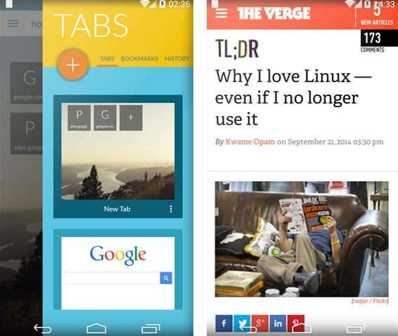Javelin Chrome Android