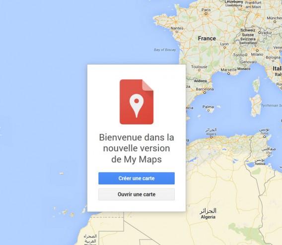 Bienvenue dans My Maps