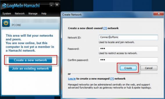 Tworzenie VPN Hamachi