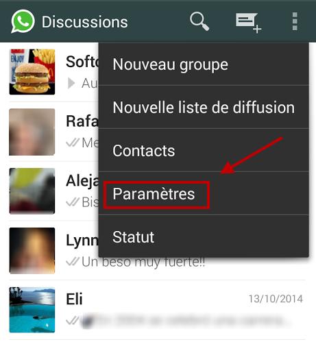 comment enregistrer conversation whatsapp samsung