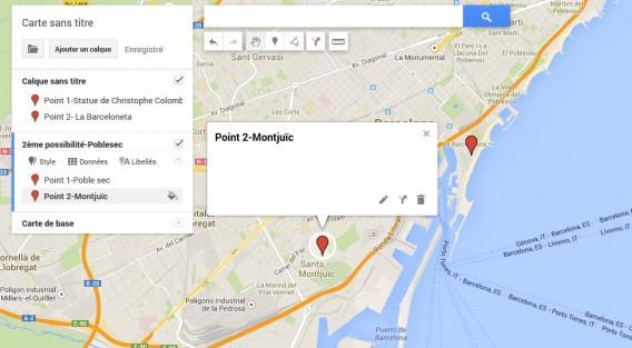 Deuxième itinéraire-deuxième calque sur My Maps