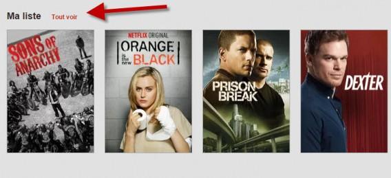 Netflix - ma liste