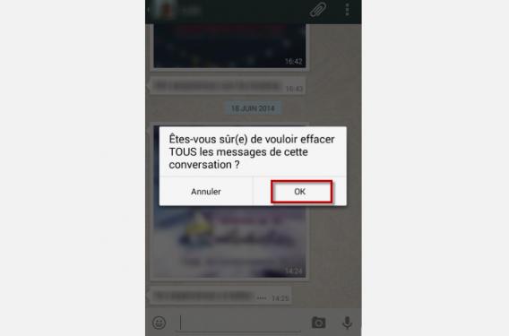 WhatsApp 8-Tapez sur OK