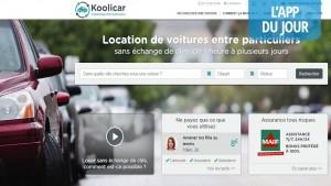 App du jour : Koolicar, prêtez votre voiture et gagnez de l'argent (Android)