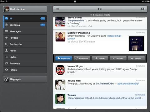 Tweetbot pour Twitter pour consulter rapidement vos tweets