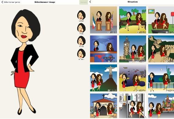 Fleur et Kim dans Karikator