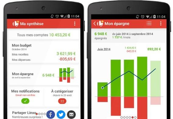 Linxo appli Android iOS Windows Phone et BlackBerry