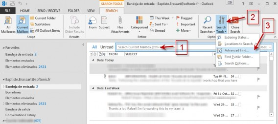 Outlook Advanced find