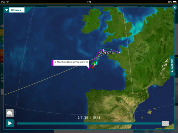 Route du Rhum 2014 carte interactive