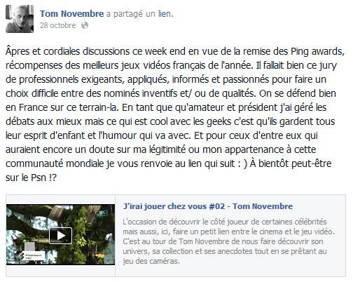 Tom Novembre Facebook