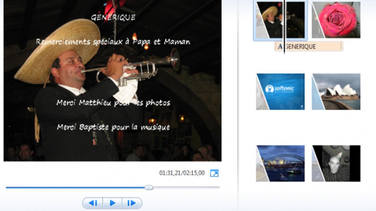 Windows Movie Maker: comment créer un générique de fin pour une vidéo?
