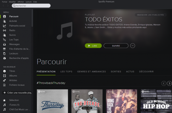 Spotify Accueil