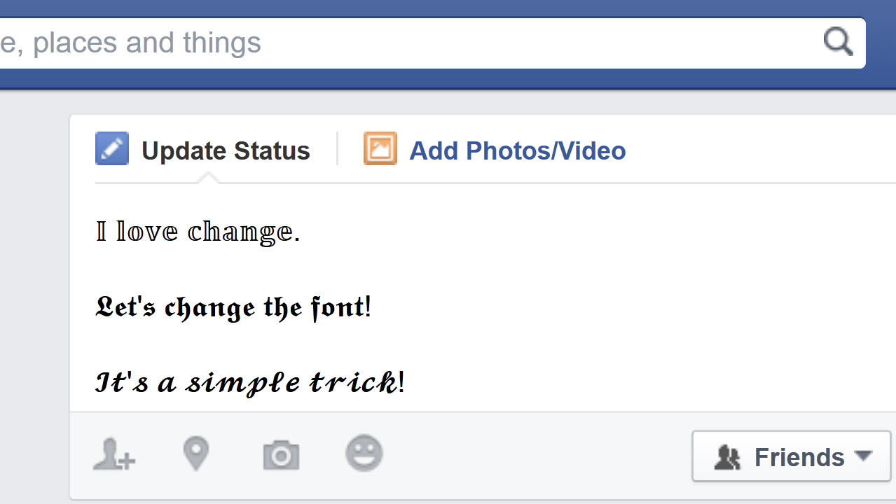 Comment écrire avec des caractères différents dans Facebook, Twitter ou YouTube