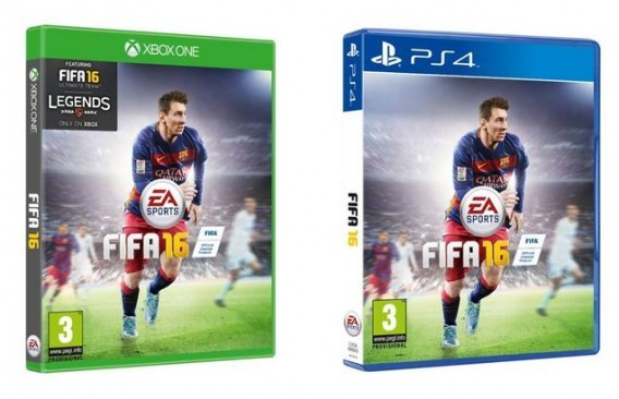 Jaquettes FIFA 16 Xbox One et PS4